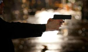 White man shooting