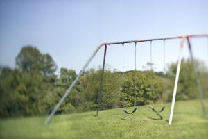 Swing set in park
