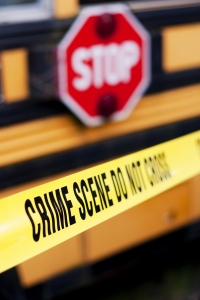 School Bus Crime Scene