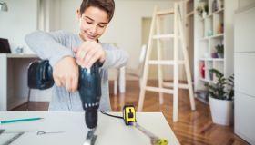 Boy carpenter