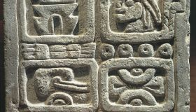 Mexico, Maya Civilization, Xochicalco, Stone of the four glyphs (calendar system)