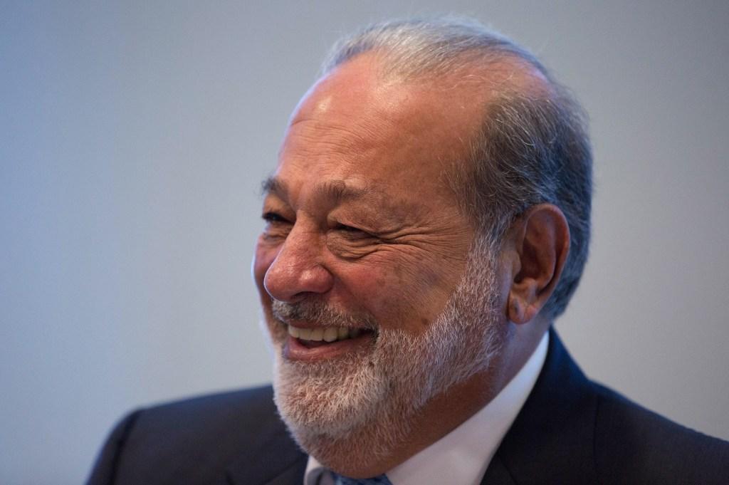 Carlos Slim press conference in Mexico