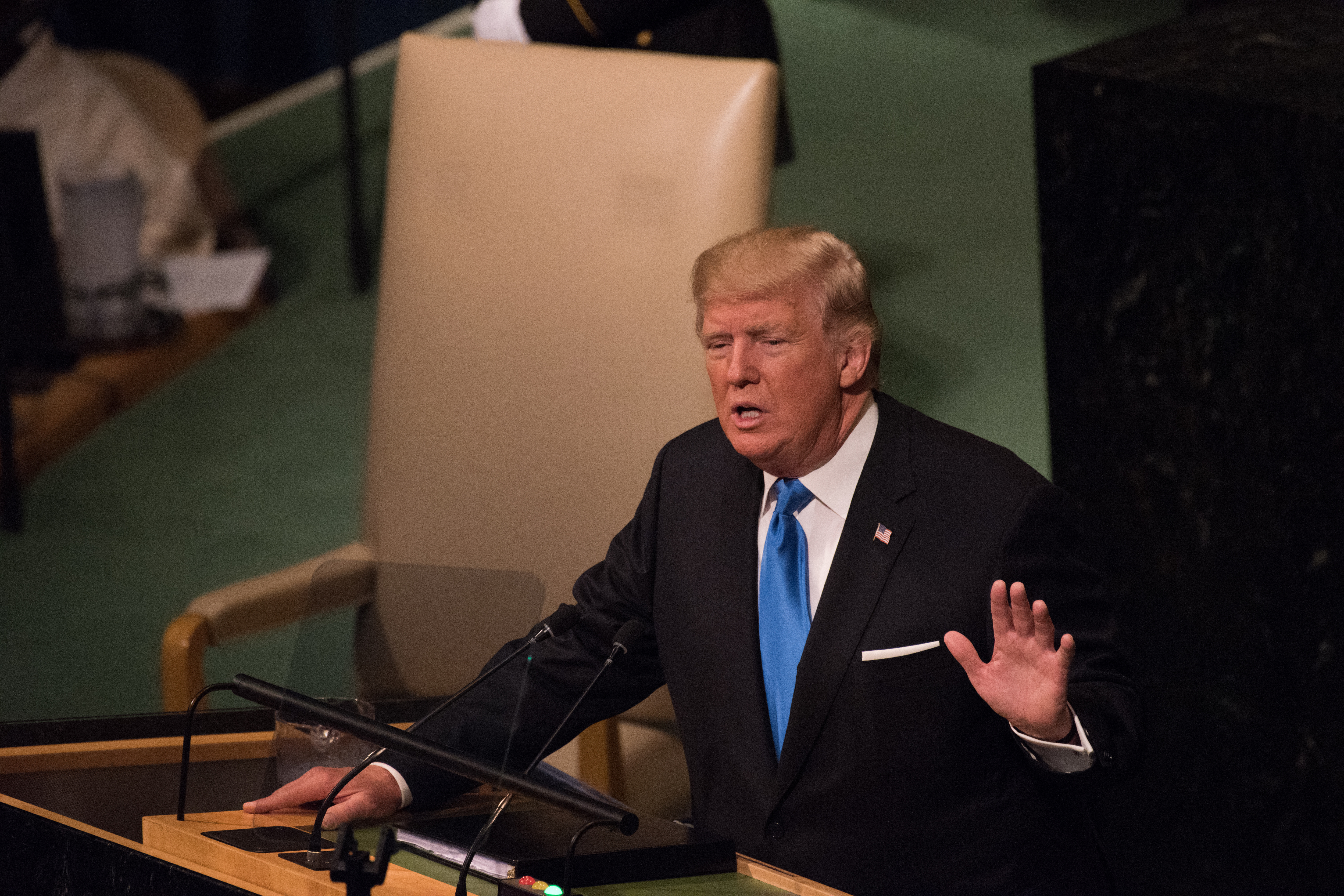 President Donald Trump was among a number of world leaders...