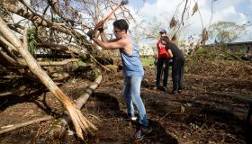 Students and faculty clean up University of Puerto Rico after Hurricane Maria.