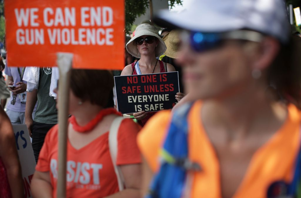 Women's Groups Protest Outside NRA Headquarters