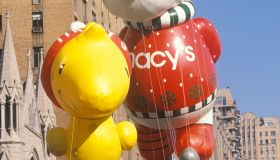 Snoopy and Woodstock Balloons in Macy's Thanksgiving Day Parade, New York City, New York