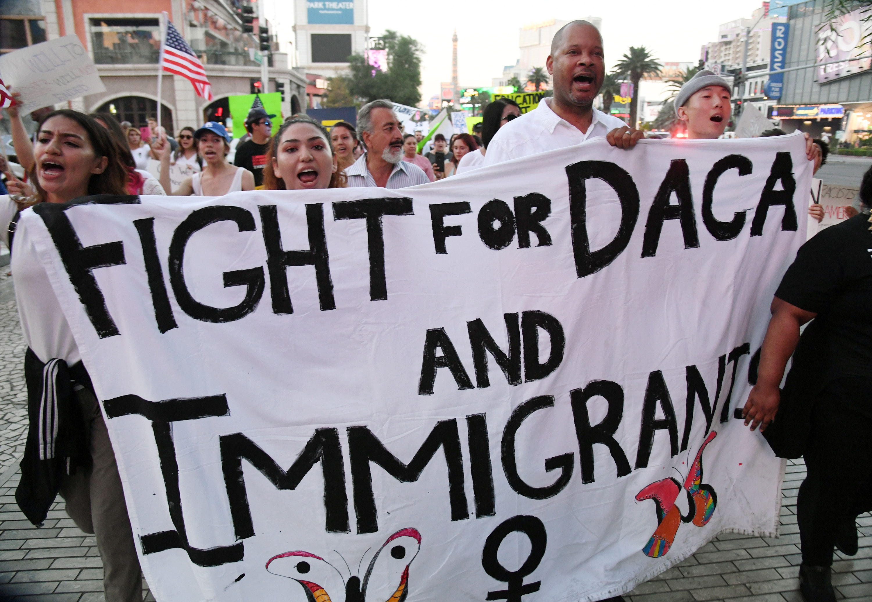 Hundreds Join 'Defend DACA' March In Las Vegas