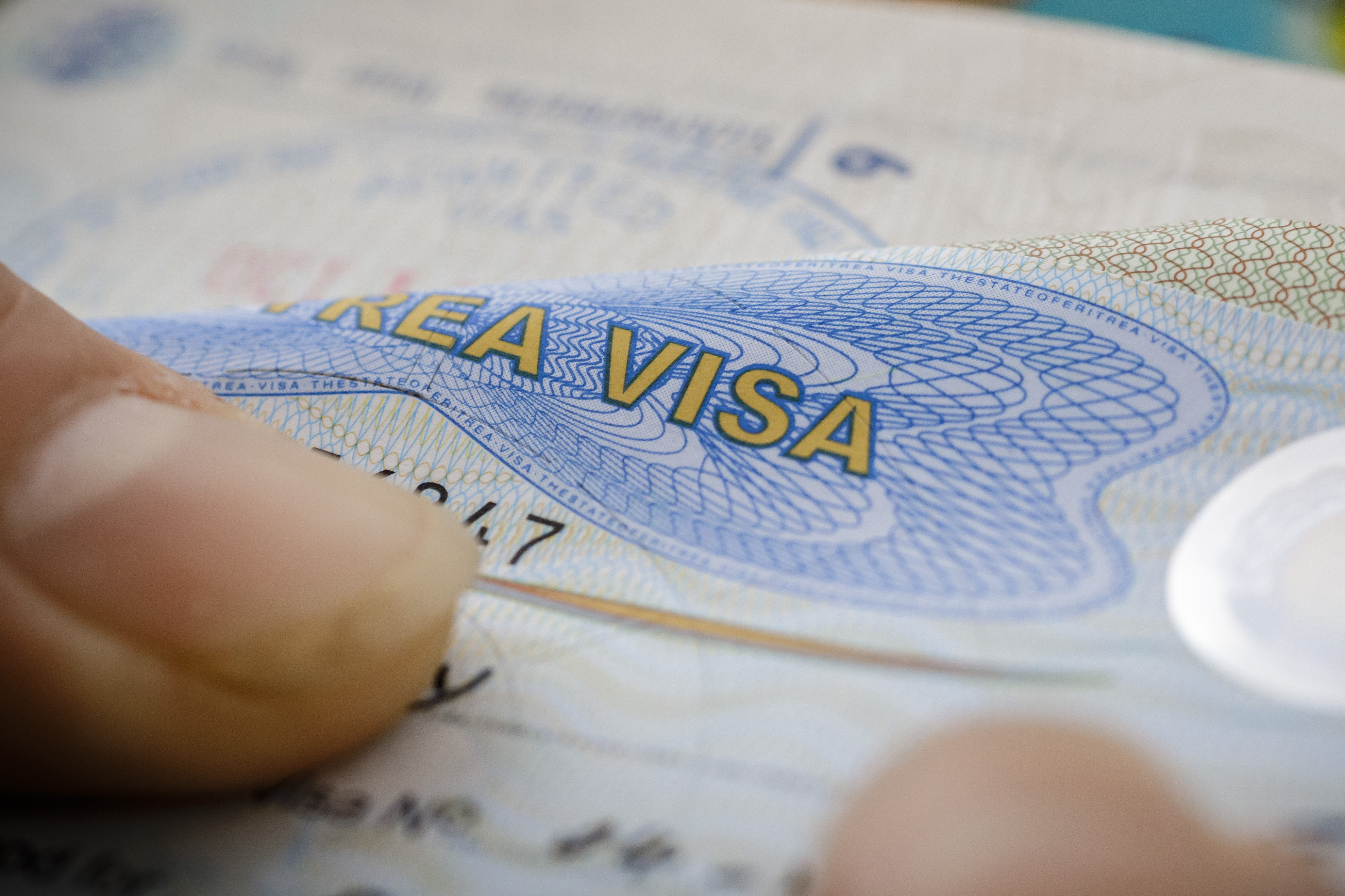 Visa In A Passport