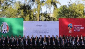 Enrique Pena Nieto Farewells Mexico National Team Ahead of the 2018 FIFA World Cup Russia