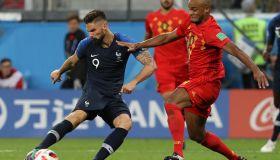 2018 FIFA World Cup Semi Finals Belgium v France