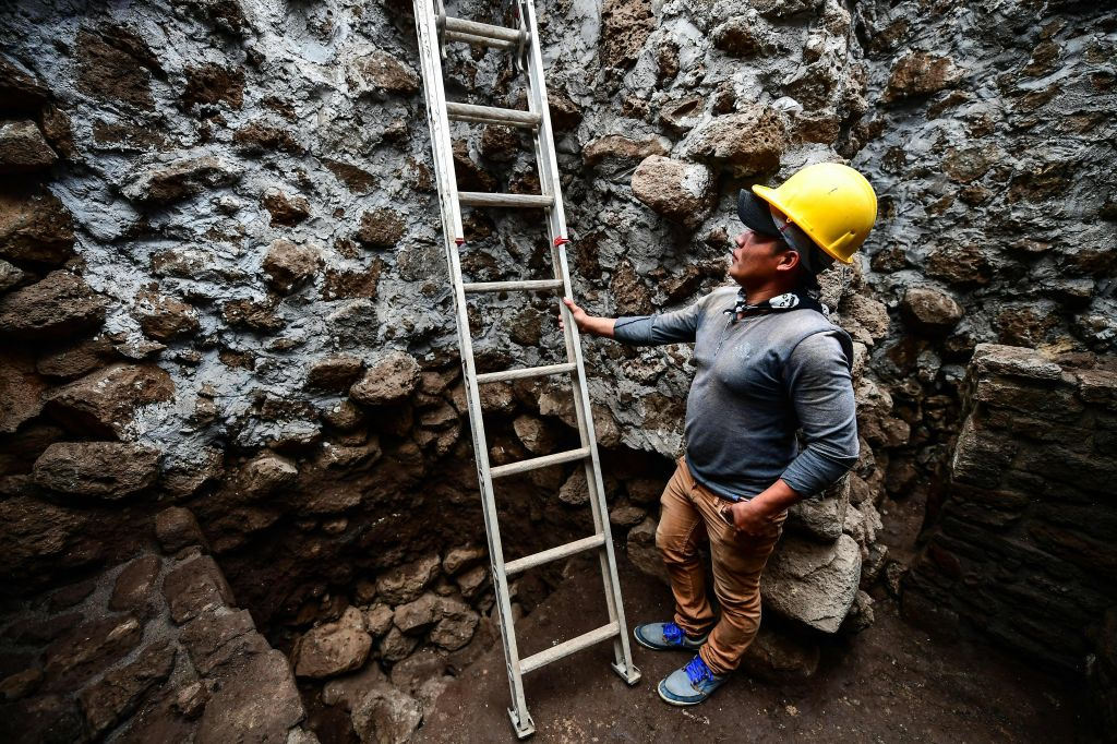 MEXICO-ARCHAEOLOGY-PYRAMID-SUBSTRUCTURE