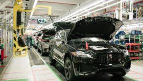 José Mourinho Makes Surprise Visit To Jaguar Production Line
