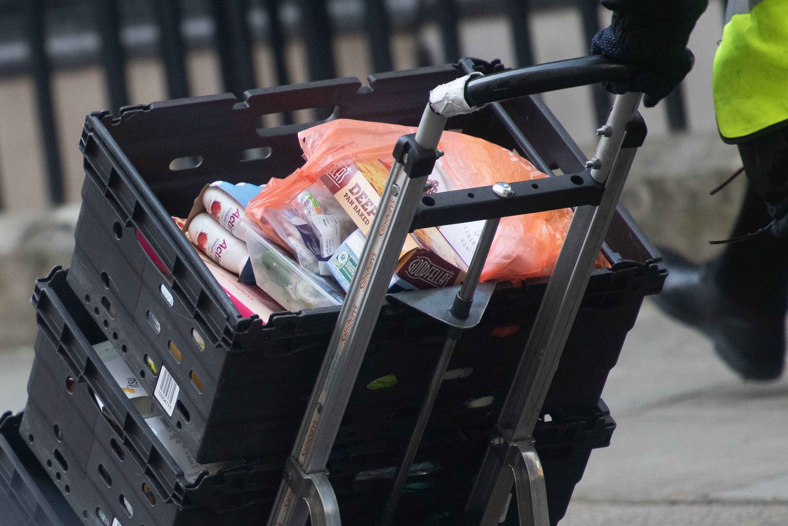 Sainsbury's Delivery - Monday 16 March 2020 - 10 Downing Street, London