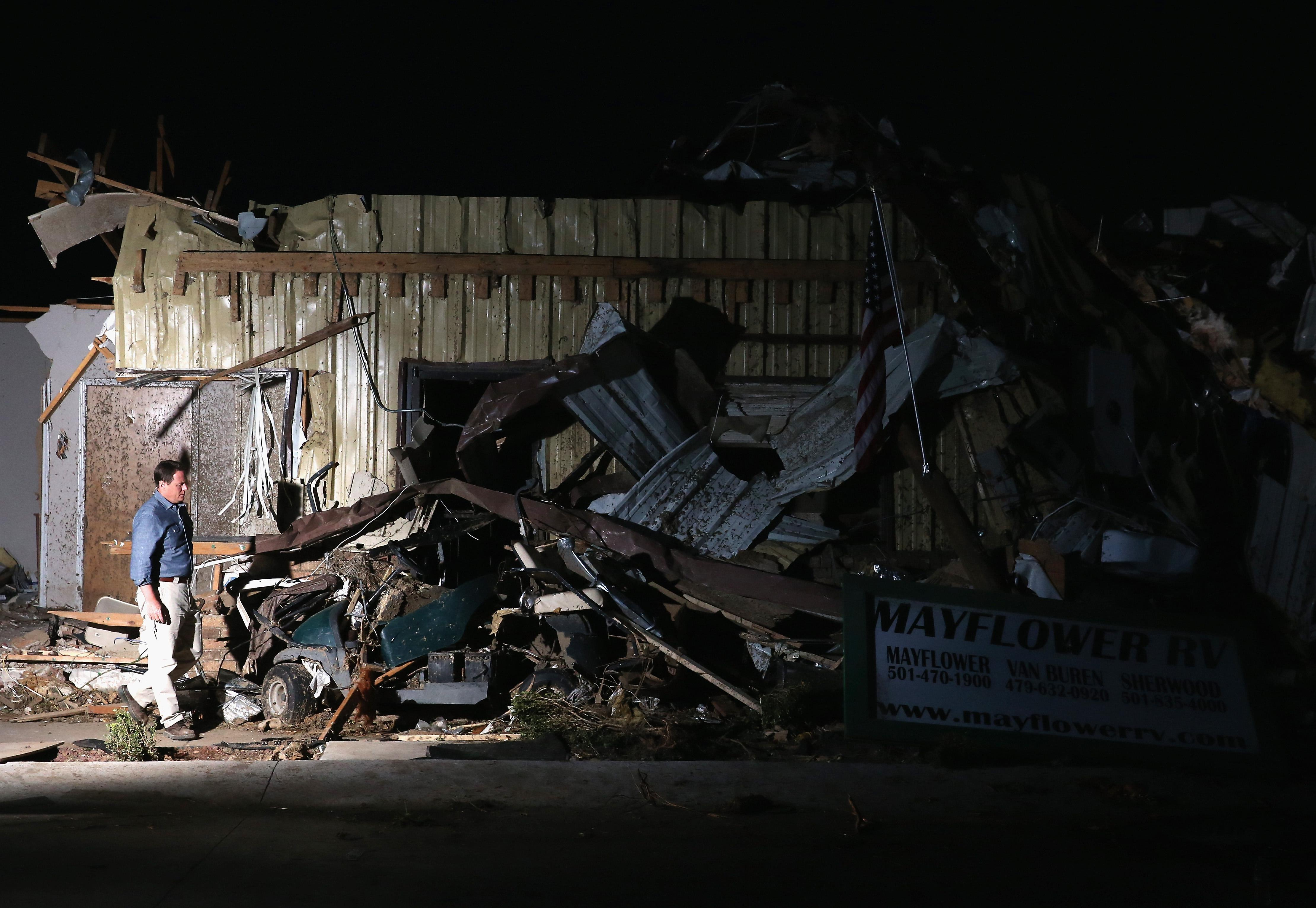 Widespread Damage And Casualties After Tornadoes Rip Through Arkansas