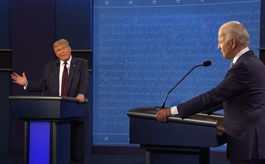Donald Trump vs Joe Biden in first presidential debate