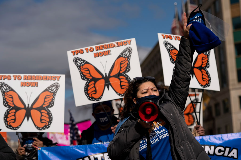 TPS Families March In Washington Urging Congress To Pass Immigration Legislation
