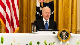 President Joe Biden speaks during a Cabinet Meeting