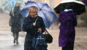 Sleet showers hit Moscow