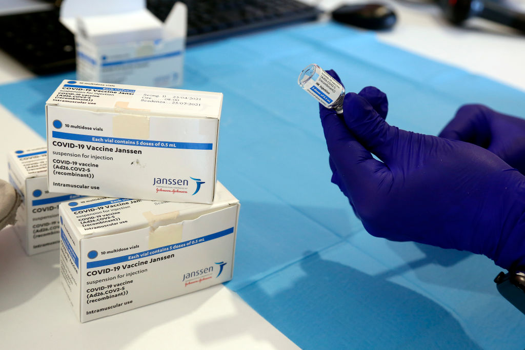 Italy Opening of a new vaccination hub at Tor Vergata
