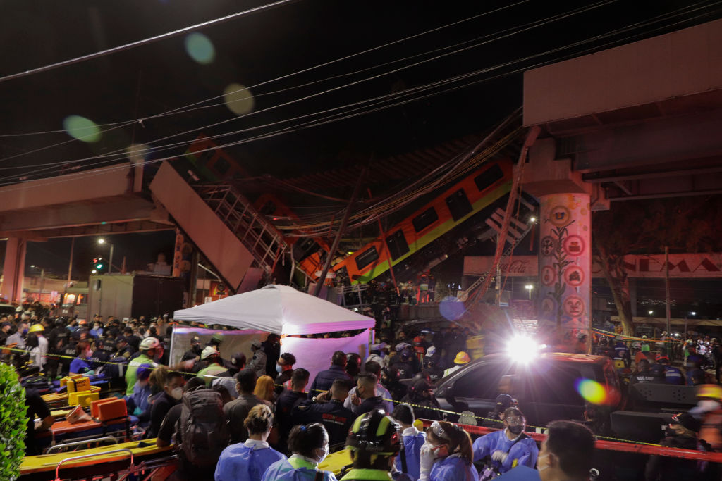 Collapse Of Line 12 Subway Structure In Mexico City, 20 People Dead And More Than 70 Injured