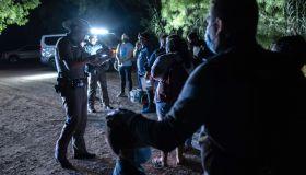 Undocumented Immigrants Attempt To Cross Into U.S. Near Del Rio, Texas
