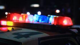 Flashing lights on a police car