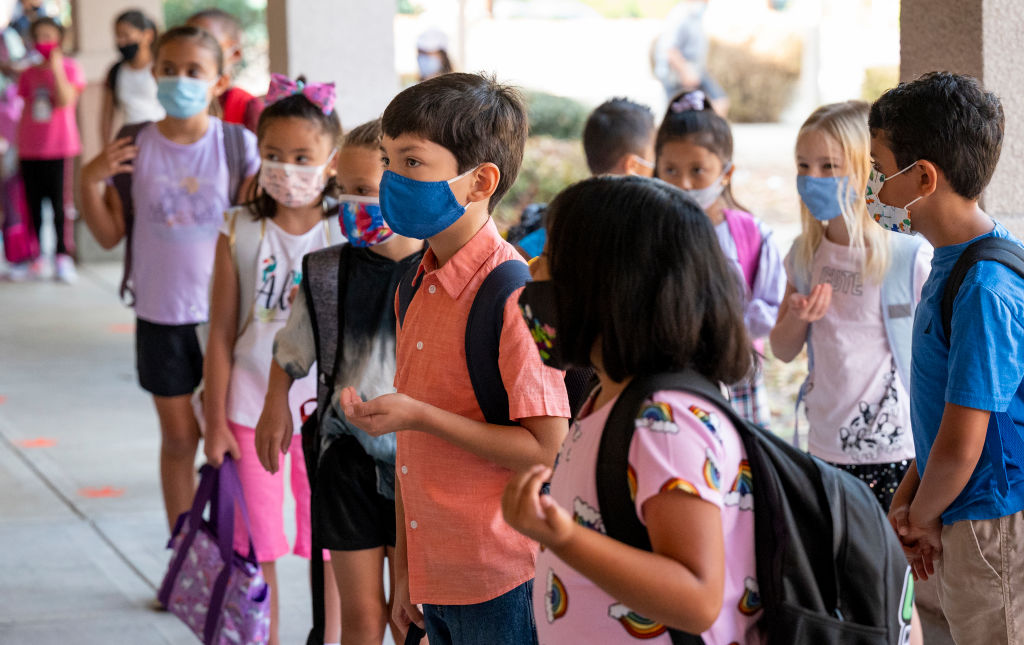 Elementary students return to class