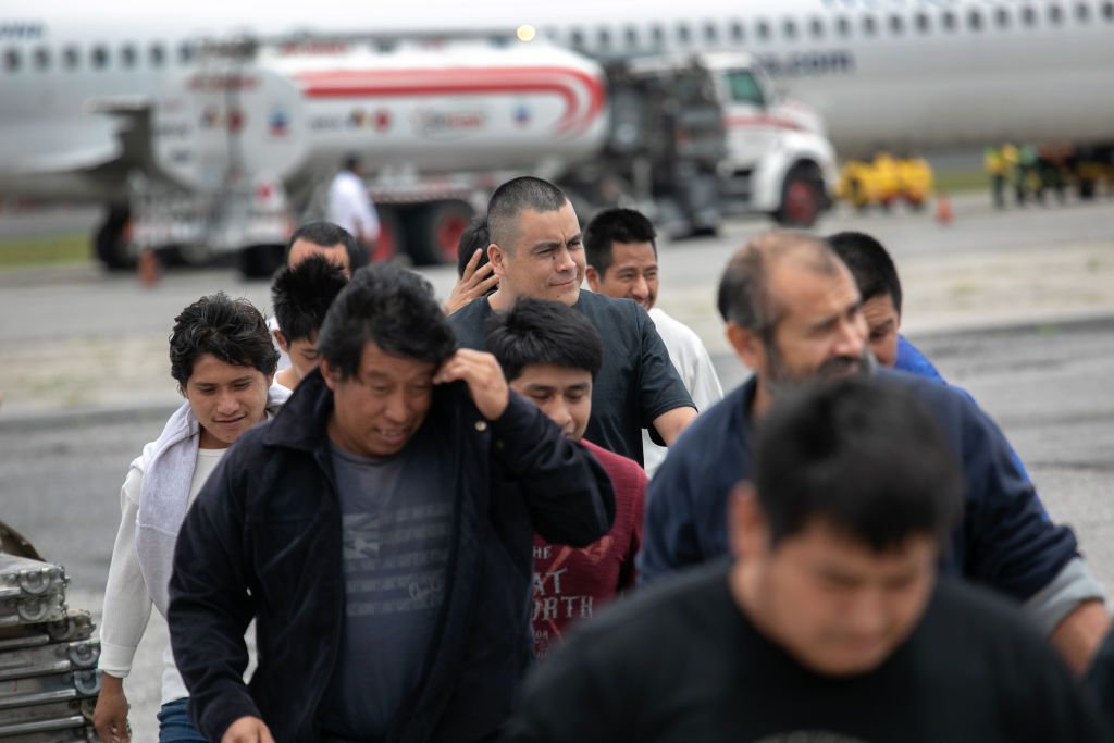 Deportees Arrive In Guatemala From The United States