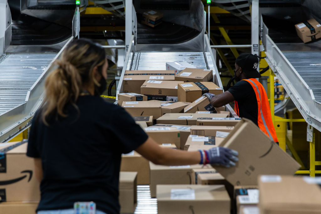 Operations Inside An Amazon Facility On Prime Day