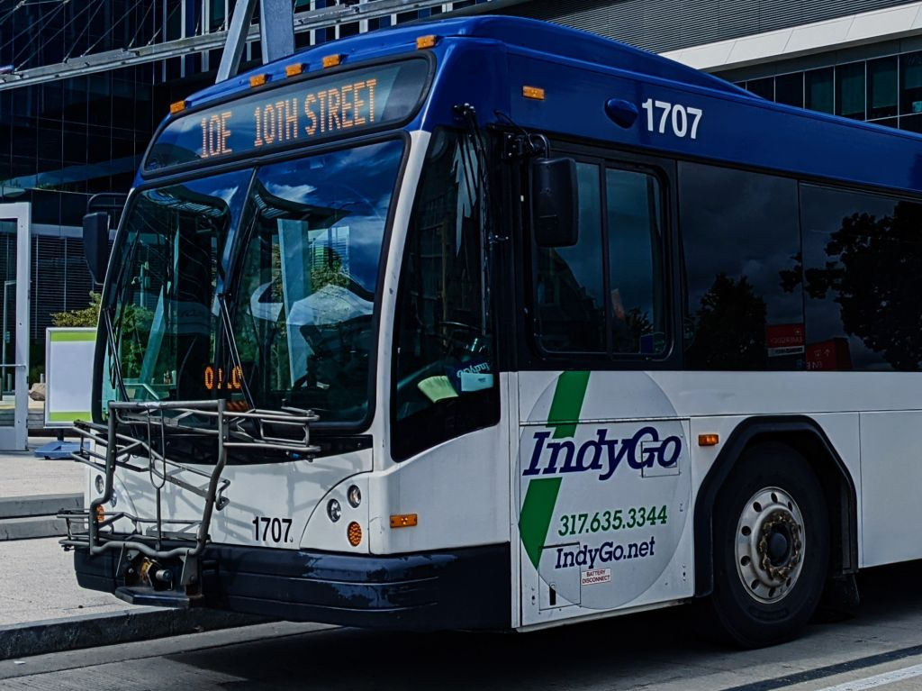 Indygo Bus close up